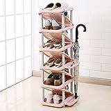 Tür Eingangsbereich Flur Schuh Lagerregal Kinder Stand Für Schuhe Einstellbare Regal Organizer Halter 11 Tier Grün (Farbe : Hell-Pink)