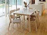 Tisch 'Narvik' Esstisch Küchentisch 180x90 Holz Weiß lackiert Ausziehbar