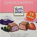 RITTER SPORT Schokowürfel Joghurt (8 x 176 g), Schokolade in 3 erfrischenden Sorten, Erdbeer Joghurt, Joghurt und Johannisbeer Joghurt, Schokoladenbox