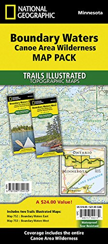 Boundary Waters Canoe Area Wilderness [map Pack Bundle] (National Geographic Trails Illustrated Map) -