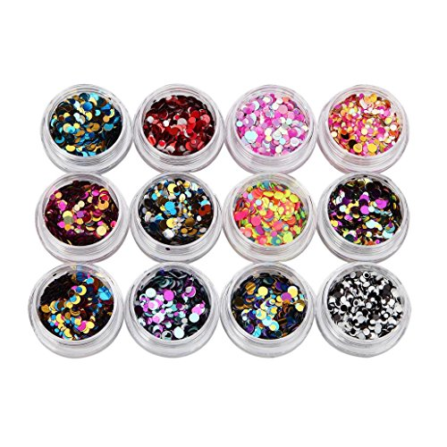 Coolster Acryl 3D Glitter Sequins Aufkleber Nail Decorator Nail Art Tip DIY Dekoration Set...