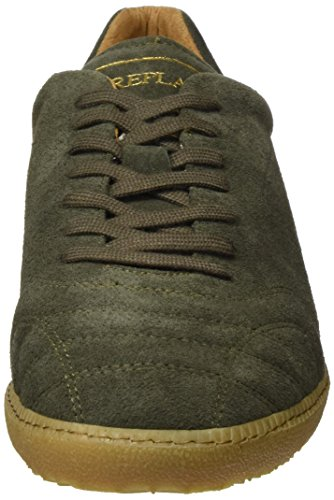 Replay Replica Scatto, Baskets Basses Homme Vert - Grün (Kaki 105)