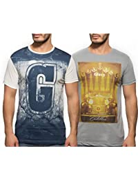 Yo Republic Mens Cotton Tshirt Combo Offer (Pack of 2)