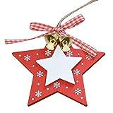 Christmas Tree Deko Glockenanhänger Anhänger aus Holz Christmas Bells schöne Oberfläche und mittlere Klanglautstärke Creative Christmas Snowflakes Hanging