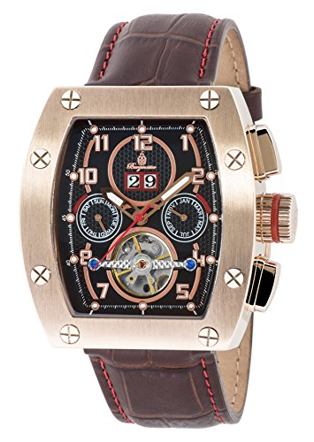 Burgmeister BM358-325 Lucan, Gents automatic watch, Analogue display - Water resistant, Stylish leather strap, Classic men's watch