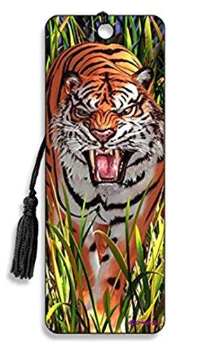 Trendz, segnalibro 3D Mont Cherry 3D, motivo: tigre, con nappa di seta
