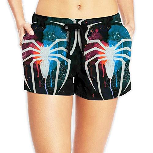 Women Sexy Hot Pants Summer Casual Shorts Spiderman Logo Short Beach Trousers S (Spiderman Kostüm Zeichnung)