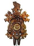 Orig. Schwarzwälder Kuckucksuhr (zertifiziert) , 8-Tage-Werk, mechanisch, 47 cm, Jagd, Adlerhorst, 5 Jahre Garantie, Schwarzwald