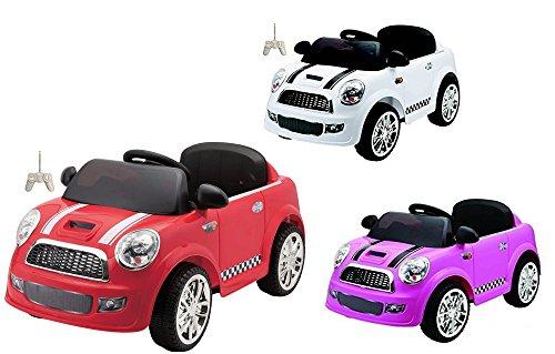 Auto Elettrica Per Bambini Mini Car Rosa Con Telecomando 2 Motori