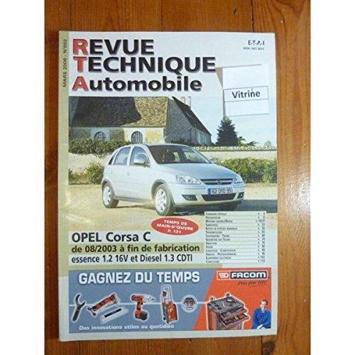 Rta-revue Techniques Automobiles - Corsa C 03- Revue Technique Opel Etat - Bon Etat