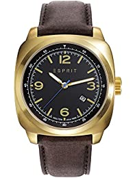 Esprit TP10361 Women's Quartz Watch with Black Dial Analogue Display and Brown Leather Strap ES103611011