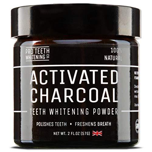 Polvo blanqueador de dientes by Pro Teeth Whitening,Blanqueador Dental de Carbón Activado,Blanqueamiento de dientes