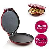 Express Pizzaofen - frische und leckere Pizza in 12min, einfache Bedienung und schnelle Zubereitung von Pizza, Omelette, Quiche, Pfannkuchen, Tortillas