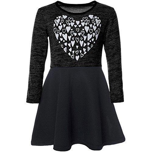 BEZLIT Mädchen Abend-Kleid Glitzer Motiv Freizeitkleid Kostüm 21528, Farbe:Schwarz, Größe:104