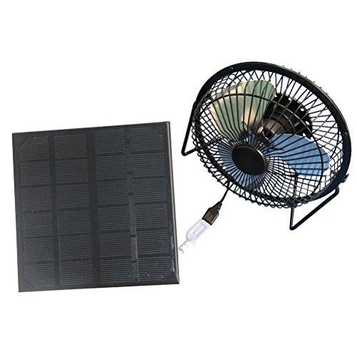Vosarea 3 W USB Solar Panel Powered Mini tragbarer Ventilator für die Kühlung Outdoor Home Traveling Chicken House Belüftungssystem für Das Auto (4 Zoll)