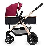 ZXLDP Kinderwägen Faltender Baby-Spaziergänger / kann sitzen Lie Down Zwei-Wege leicht tragen Winter und Sommer Dual Use Baby Trolley Prams ( Farbe : A )