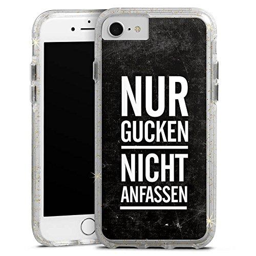 Apple iPhone 7 Plus Bumper Hülle Bumper Case Glitzer Hülle Sprüche Phrases Sayings Bumper Case Glitzer gold