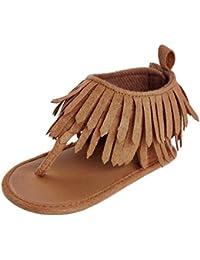 0862eb421 K-youth® Sandalias de Vestir Niña Zapatos Bebe Niña Verano Bebé Aire Libre  Borla