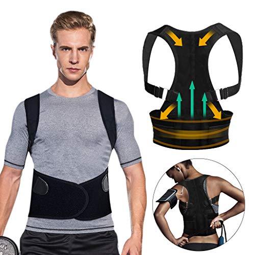 Corrección de Postura, Tencoz ajustable corrector de hombro postural transpirable volver a cinturón postura corrección cinturón lumbar apoyo para hombres mujer, mejora apoyo postura