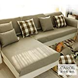 #10: Pinkdose 5, Customize: 1 Piece New Pastoral Plaid Chic Look Corner Sofa Cover Armrest Fabric Four Seasons Available Home Wedding Decoration Customize