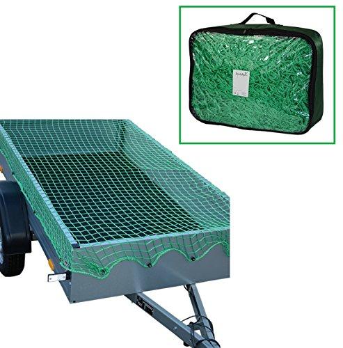 Systafex Praktisches Anhängernetz Gepäcknetz Transportnetz Abdecknetz Spannetz Sicherungssnetz Containernetz für PKW-Anhänger zur Ladungssicherung Dehnbar (1,80 x 1,20 m)
