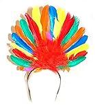 Fancy Ole - Kostüm Accessoire- Samba Kopfschmuck- Brasilianischer Karneval- Erwachsenen Kopfbedeckung, Mehrfarbig