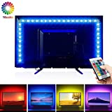 Ruban LED Etanche, opamoo Bande Lumineuse LED 2M USB Bande LED 5050 RGB LED bande de...