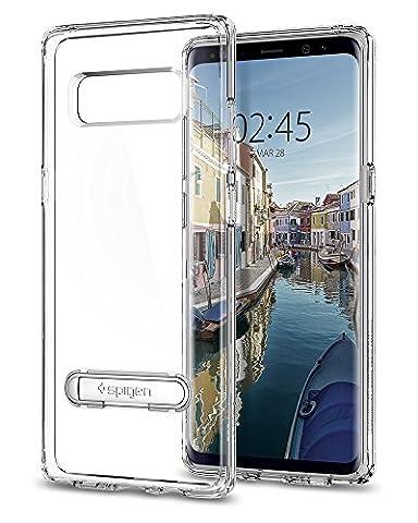Coque Galaxy Note 8, Spigen® [Ultra Hybrid S] béquille [Transparente] Effacer le panneau arrière + TPU pare-chocs pour Samsung Galaxy Note 8 (2017) - 587CS22067