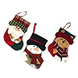 Yamuda - Mini calze di Natale, confezione da 3