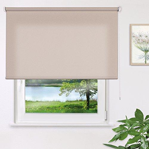 JalouCity Holis Sichtschutzrollo blickdicht - lichtdurchlässig / Creme 160 x 180 cm (BxH)