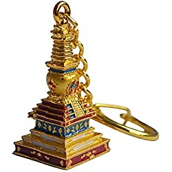 Buda de la medicina Feng Shui Stupa llavero amuleto W libre Mxsabrina rojo cadena pulsera w1693