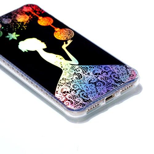 iPhone 8 Custodia, iPhone 7 Custodia, iPhone 8/iPhone 7 Cover, JAWSEU Bella Luminoso [Shock-Absorption][Anti Scratch] Protectiva Bumper per iPhone 8/iPhone 7 Cristallo Chiaro Cover Case Caso Ultra Sot Ragazza