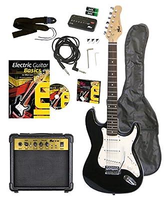 Volt EG100 E-Guitar Set - Set básico con guitarra eléctrica, amplificador, guía de aprendizaje y accesorios [importado de Alemania] de Volt