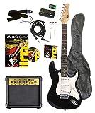 Volt EG100 E-Guitar Set - Set básico con guitarra eléctrica, amplificador, guía de aprendizaje y accesorios [importado de Alemania]