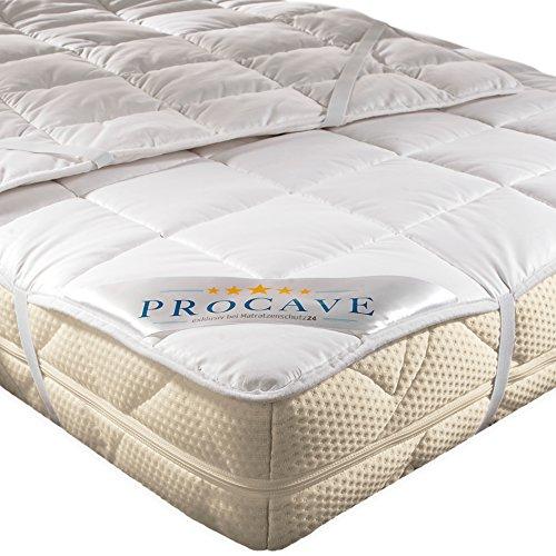 PROCAVE weiches Unterbett aus 100% Baumwolle, atmungsaktiver Matratzen-Schoner, hochwertige...