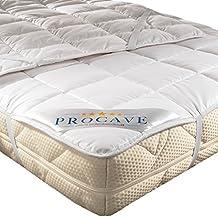 PROCAVE Protector de colchón transpirable, Cubrecolchón suave 100% algodón, Funda para colchones con
