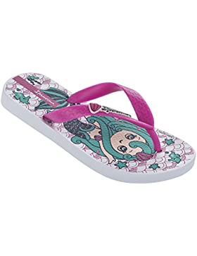 Raider Temas IX - Chanclas infantil, color blanco / rosa