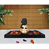 TiedRibbons® Buddha Tealight Candle Holders With Wooden Tray And Potpourri | Decorative Gift Items | Diwali Lights For Decoration Of Home | Diwali Gifts Items | Corporate Gifts For Clients