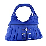 Yours Luggage Women Frill Hand Bag Blue