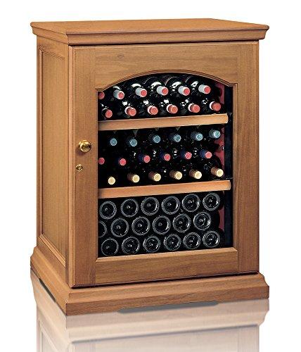 Ip Industrie - Cantinetta climatizzata legno massello porta doppio vetro capienza di 50 bottiglie in zona singola