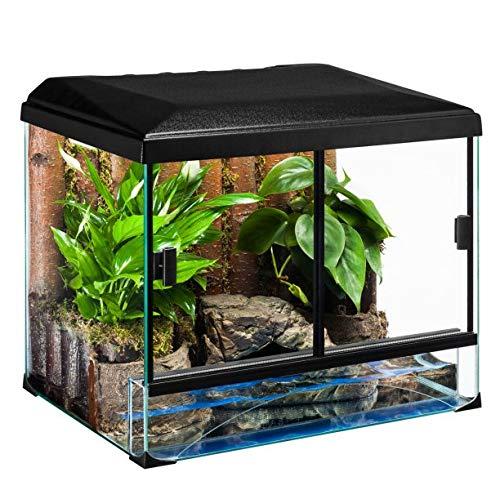 Diversa terraset Turtle 45* 32.5* 35cm terrario de Cristal para Reptiles Anfibios Tortugas Teca Unidades con Accesorios