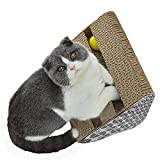 Cat Scratcher ANG Cat Scratching Board Cat Scratching Pad with bell balls and Catnip (Scratch-S)