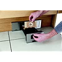 GedoTec Socket suction Sweepovac to Install under Kitchen units kitchen cleaner with Stainless steel plate 330 x 110 mm Power 650 W Brand quality for your Living area - Ersatzbeutel-Set