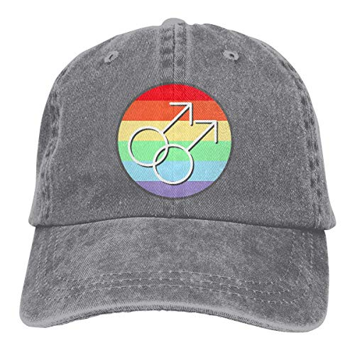 Baseballkappe Sport-Mütze Gay Pride Rainbow Symbols Men's Women's Adjustable Jeans Baseball Hat Yarn-Dyed Denim Hip-hop Cap Sports Cool Youth Golf Ball Unisex Cowboy hat fedora beach hiking skull 3D (Hip Hop Bunny Kostüm)