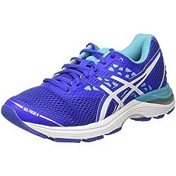 Asics T7D8N 4801, Zapatillas de Running Para Mujer, Morado (Blue Purple/White/Aquarium), 37 EU