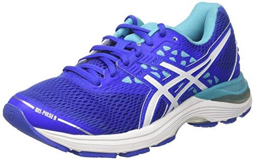 ASICS Damen Gel-Pulse 9 Laufschuhe, Blau (Blue Purple/White/Aquarium), 41.5 EU (Asics Frauen Schuhe Größe 9)