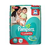 New Pampers baby dry pants style diapers have 3 revolutionary extra absorb channels, that help distribute wetness evenly throughout the pants diapers, so wetness doesn't collect in one place. Their Magic Gel Layer locks wetness inside and offers up t...