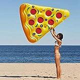 SuRose Aufblasbare Pizza Pool Float 6 X 5 Füße PVC Riesen Aufblasbare Pizza, Outdoor Swimming Pool Float Flöße Riesige 72