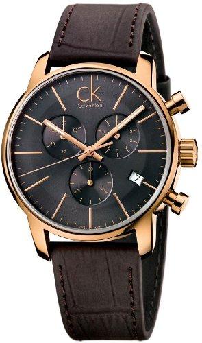 Calvin Klein K2G276G3 CK City Leather Chronograph Mens Watch