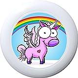 Eurodisc 175g 4.0 Ultimate BIO-Kunststoff Frisbee Unicorn (Rainbow Weiss)